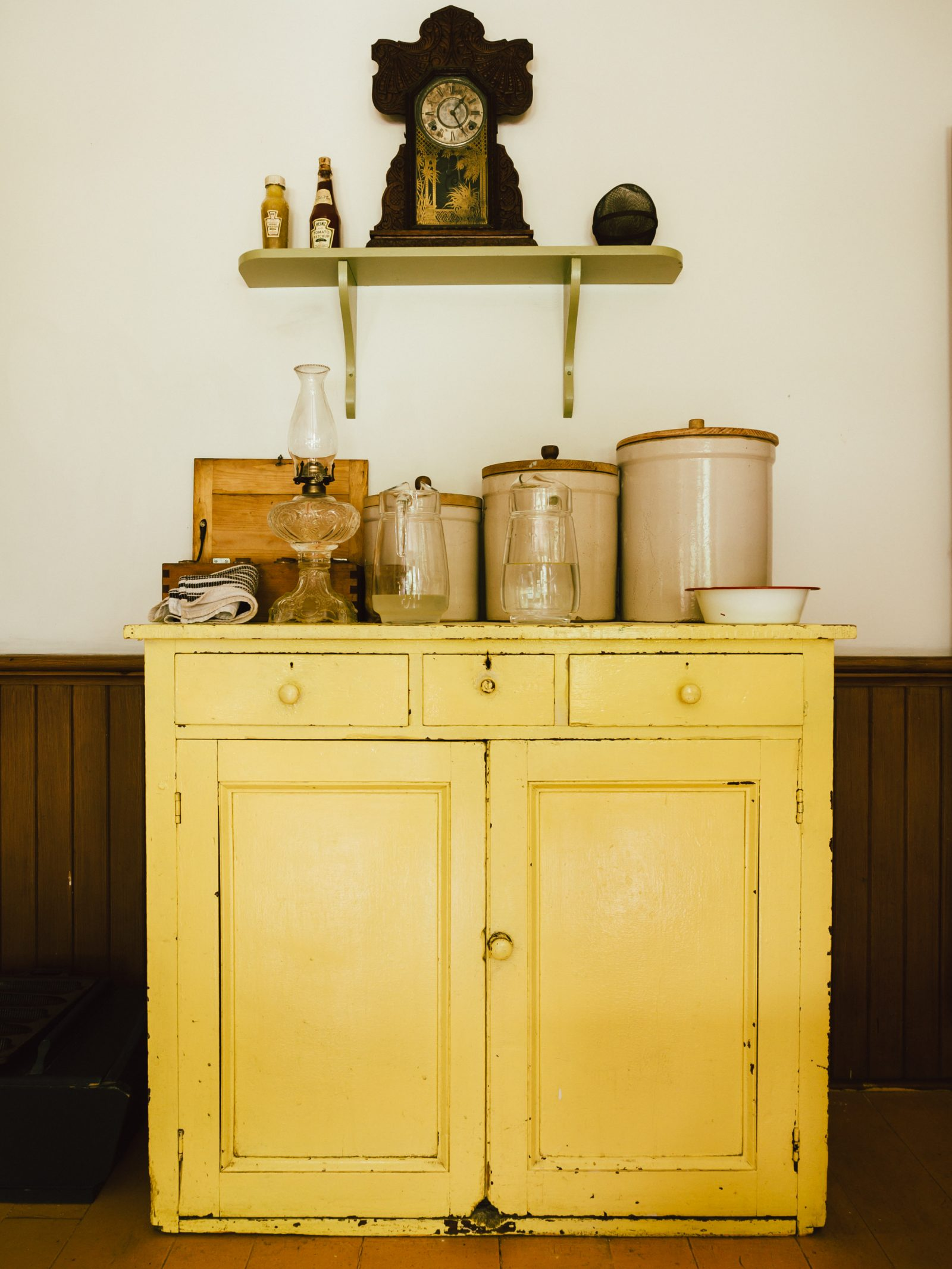 Vintage Yellow Buffet