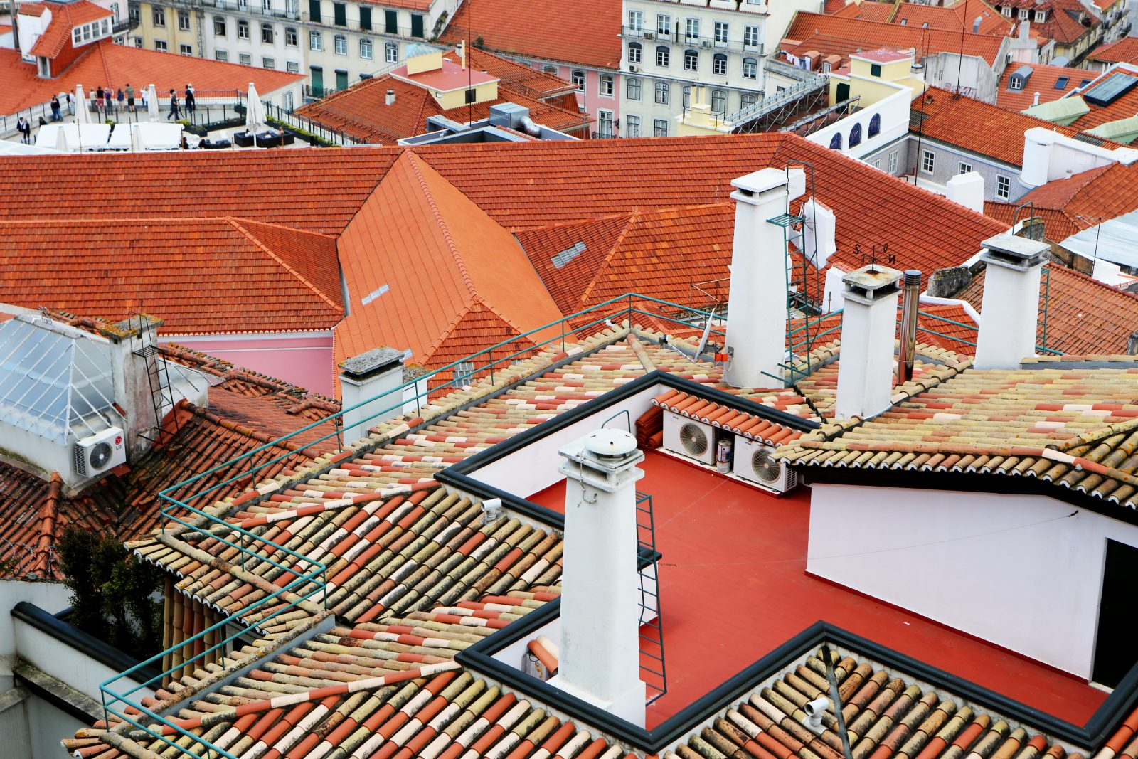 Colored City Roofs