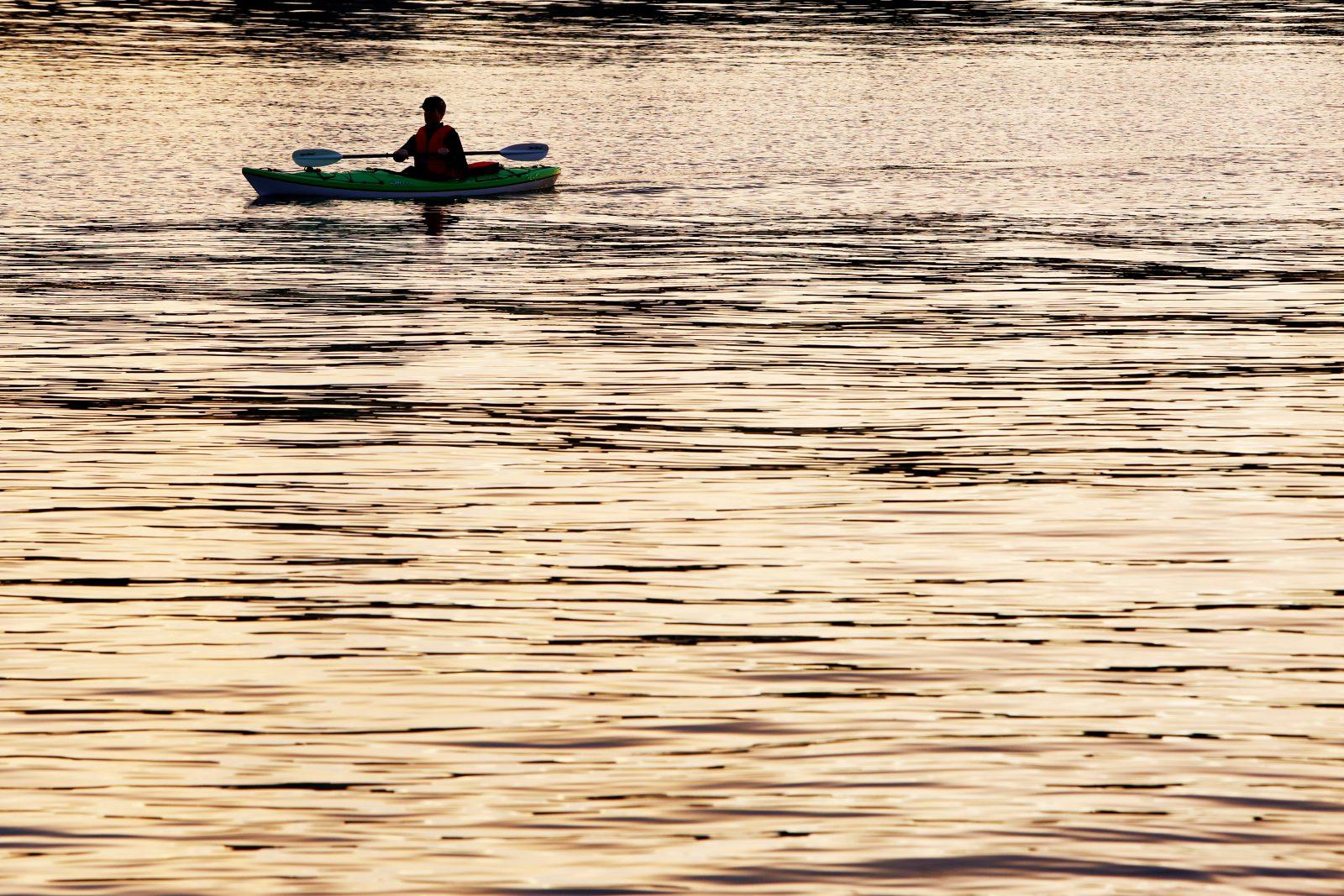 Kayak On Golden River