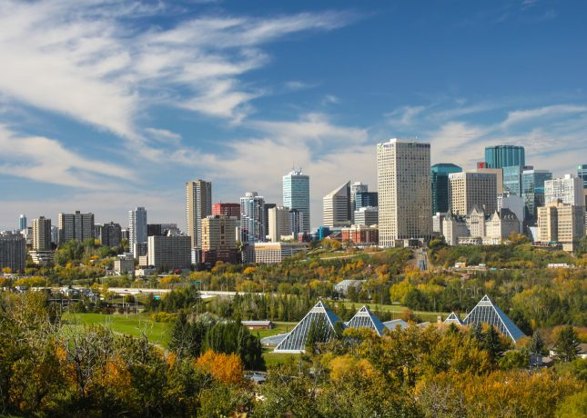 Downtown skyline Edmonton
