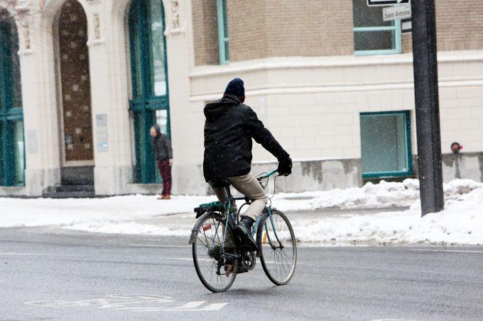 Biker In The Street