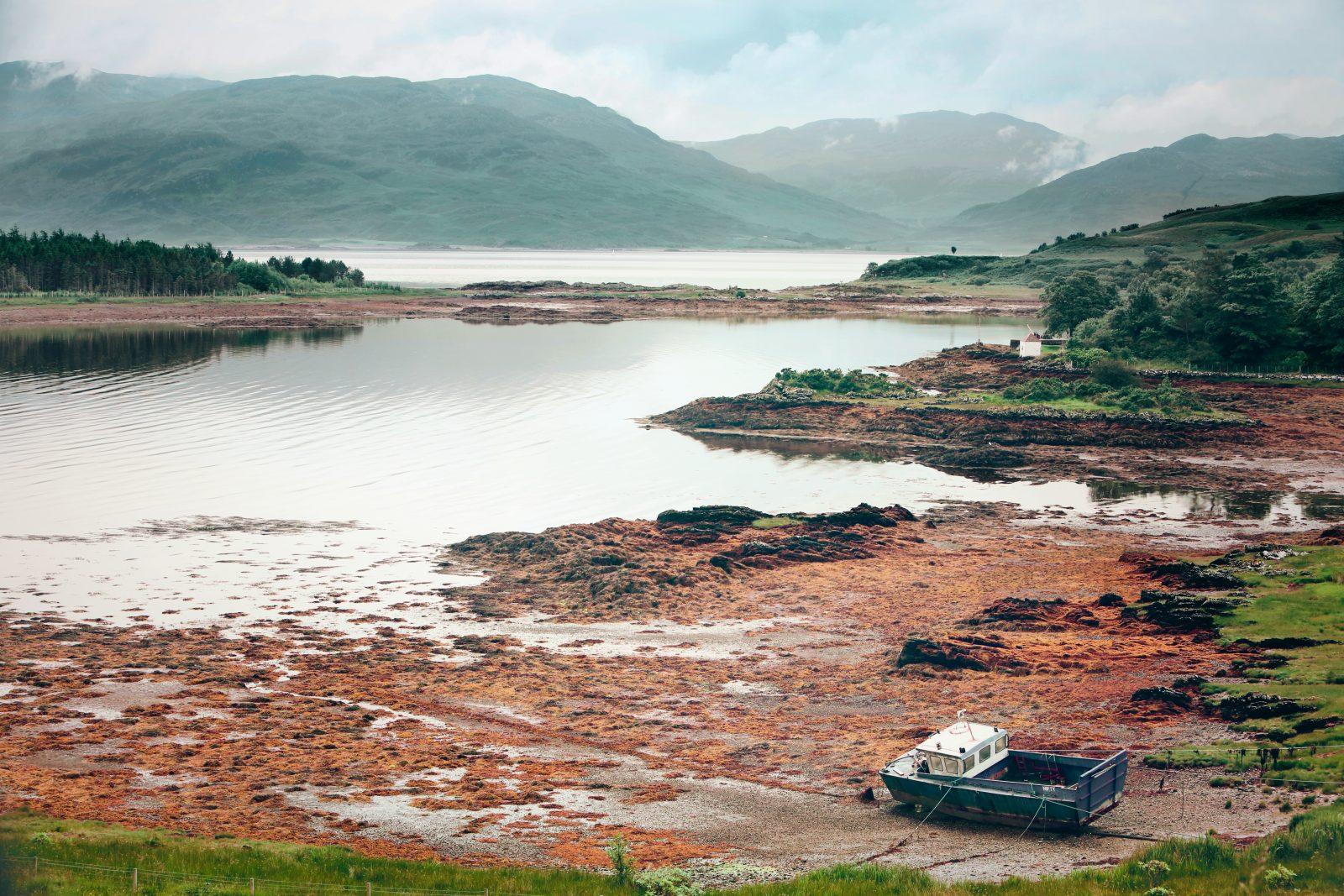 Low-Tide Square Scottish Boat