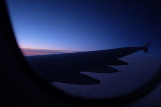 Sky above the Atlantic Ocean