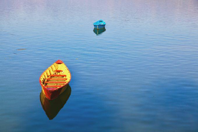 Boats of Fewa lake