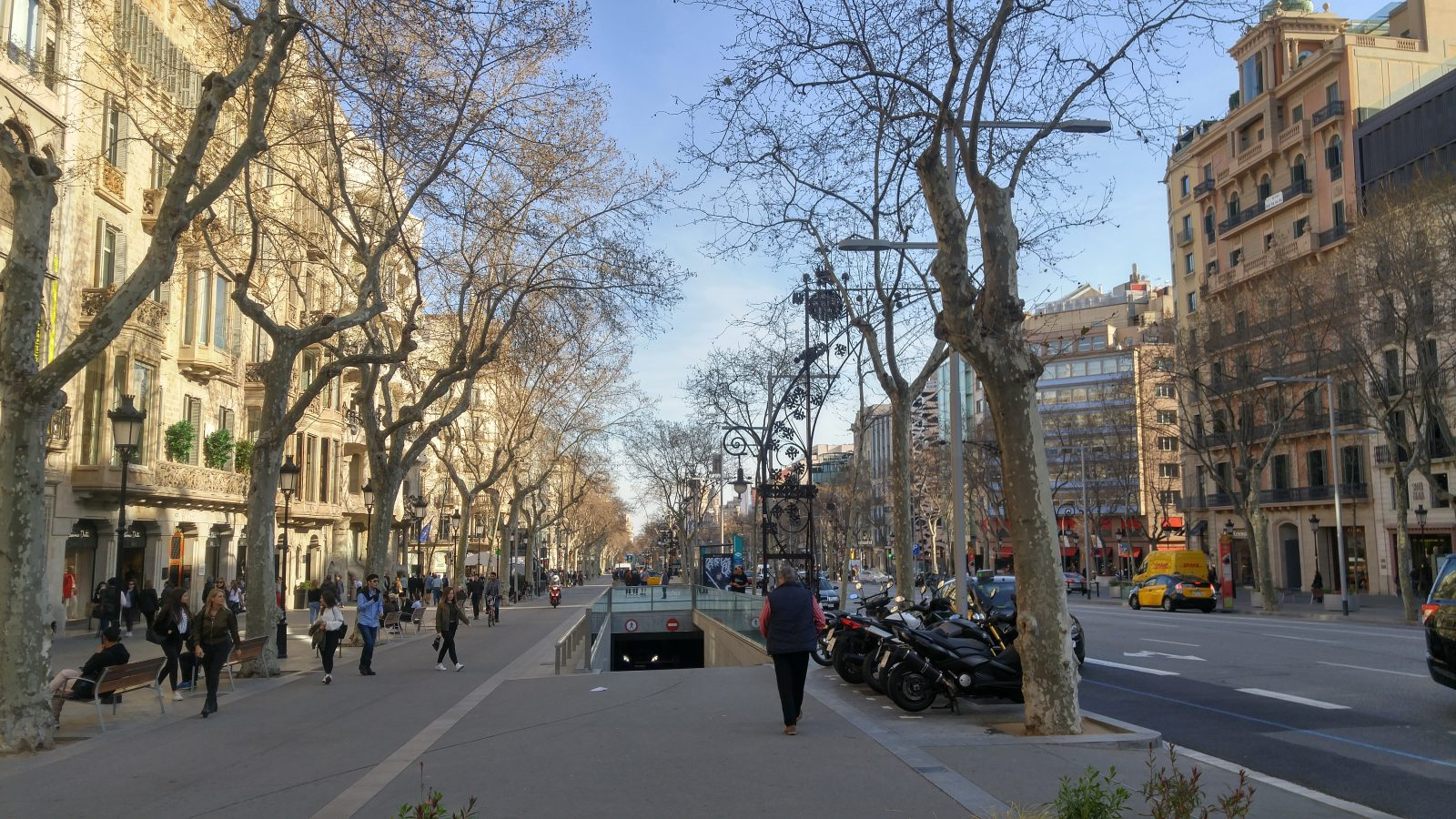 A street in Barcelona, Spain
