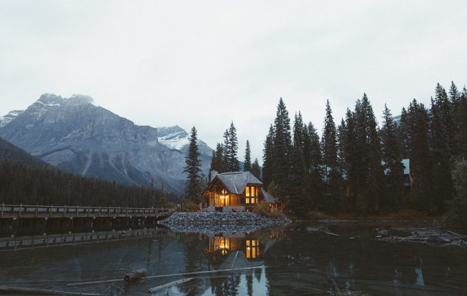 Lighted cabin