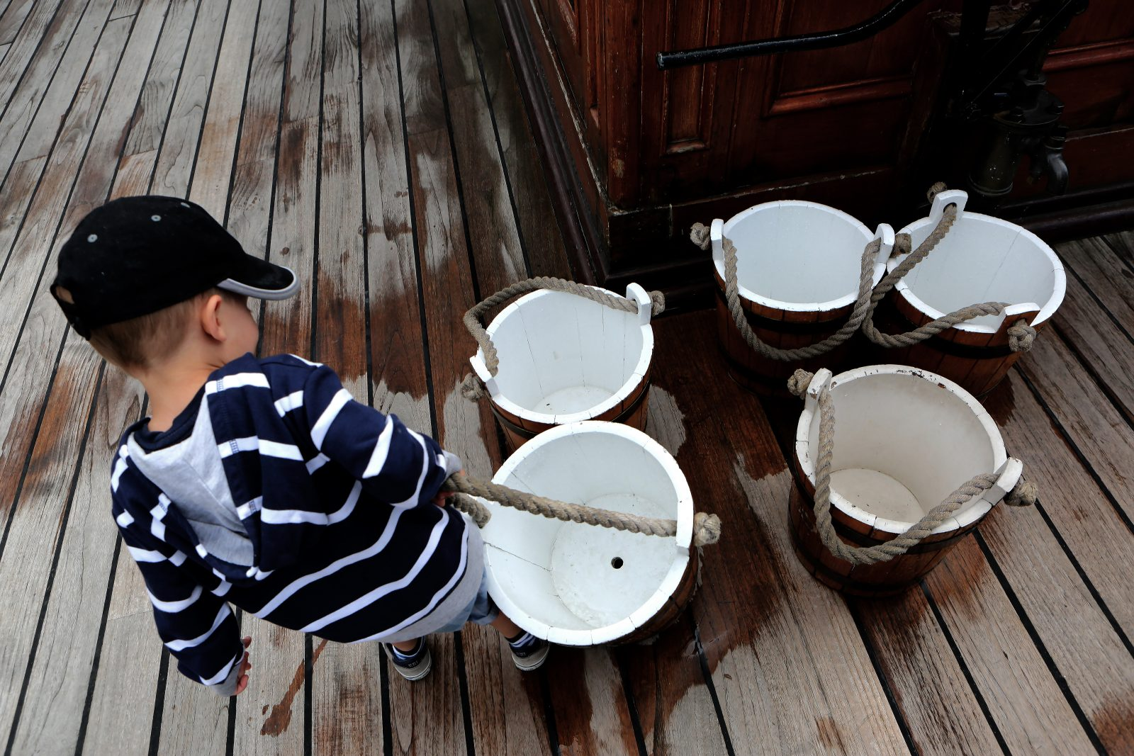 Matey Carrying Water Buckets on Cutty Sark