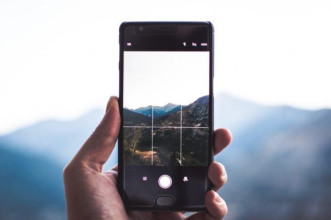 Landscape through an iPhone