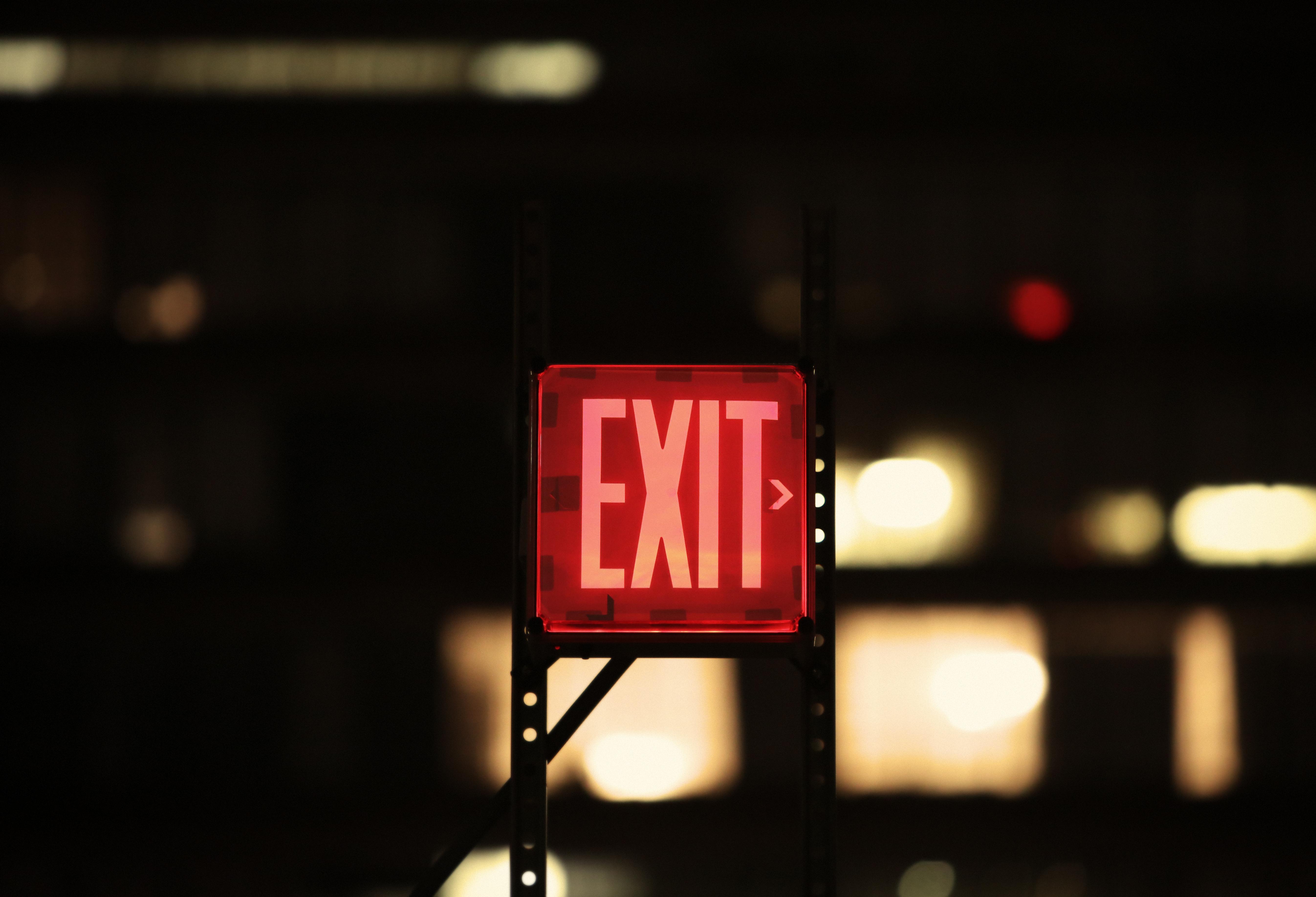 Exit Free Stock Photos Life Of Pix