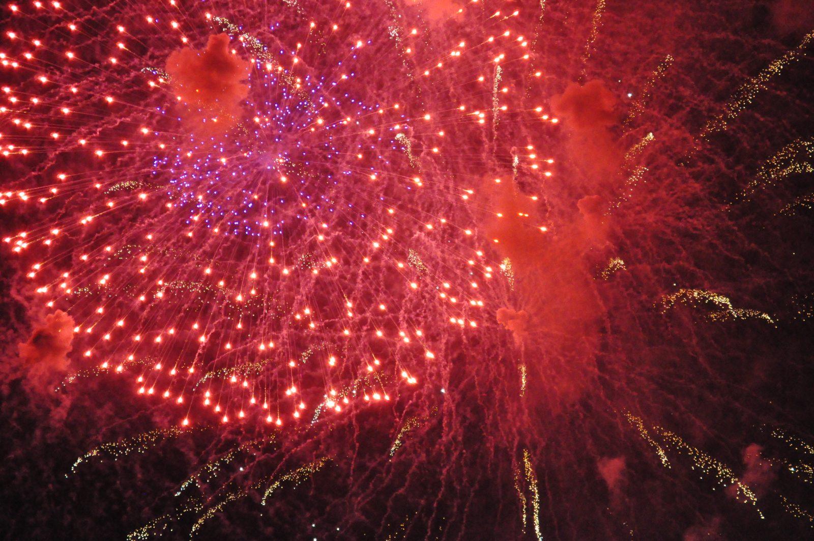 Red Fireworks Free Stock Photo: Fireworks - Free Stock Photos