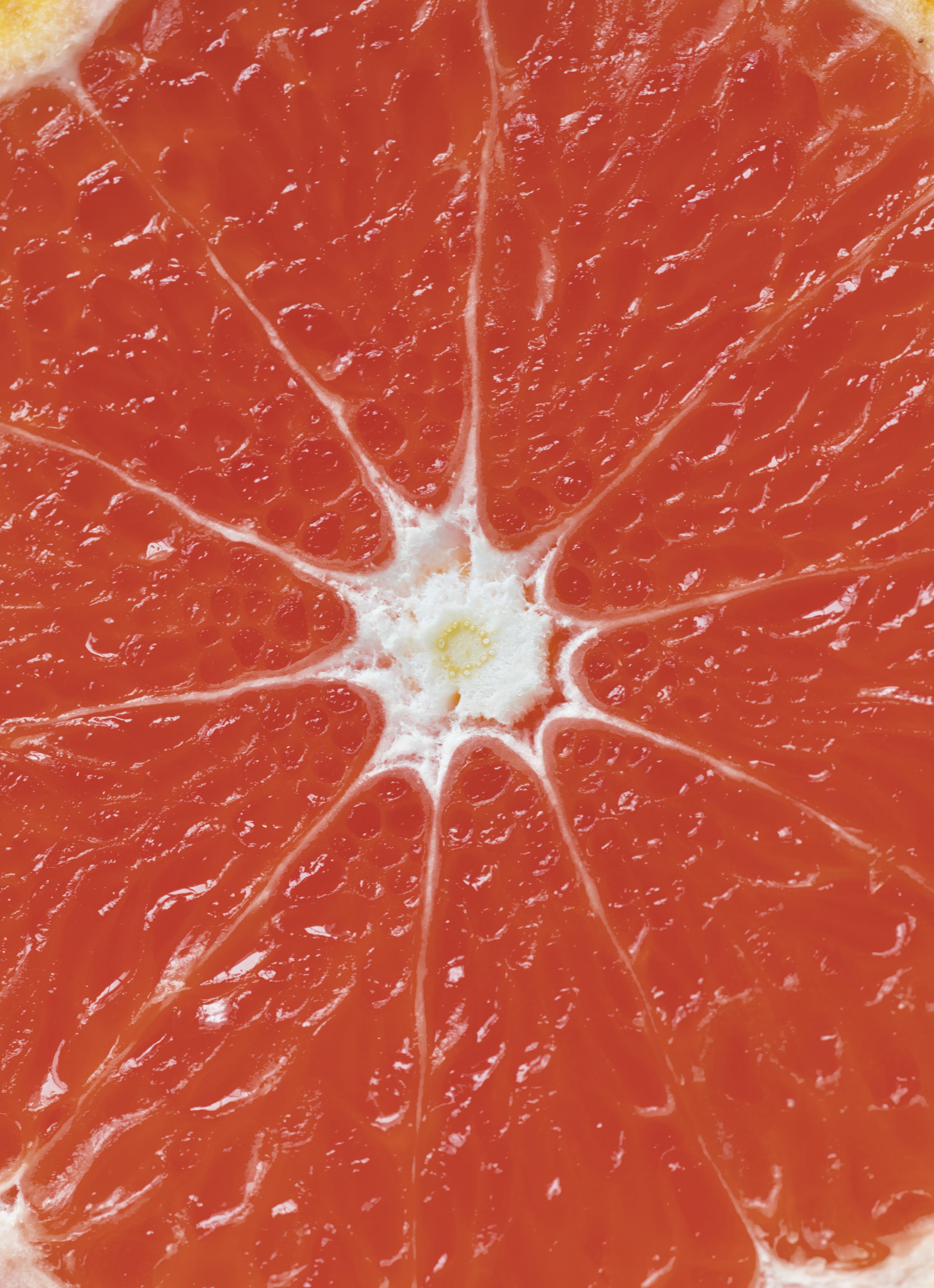 Closeup of red citrus blood orange textured