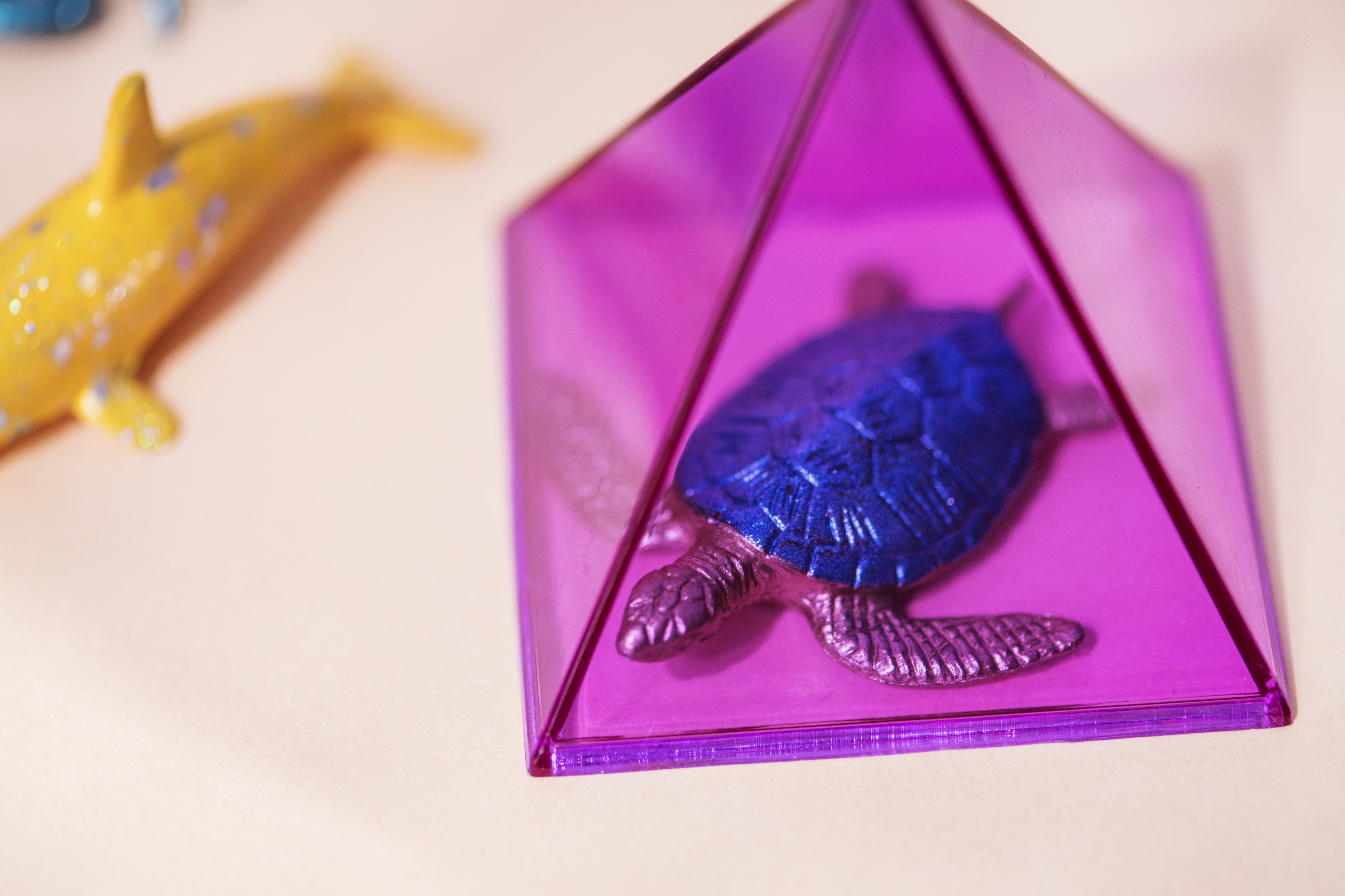Colorful and bright miniature animal figures