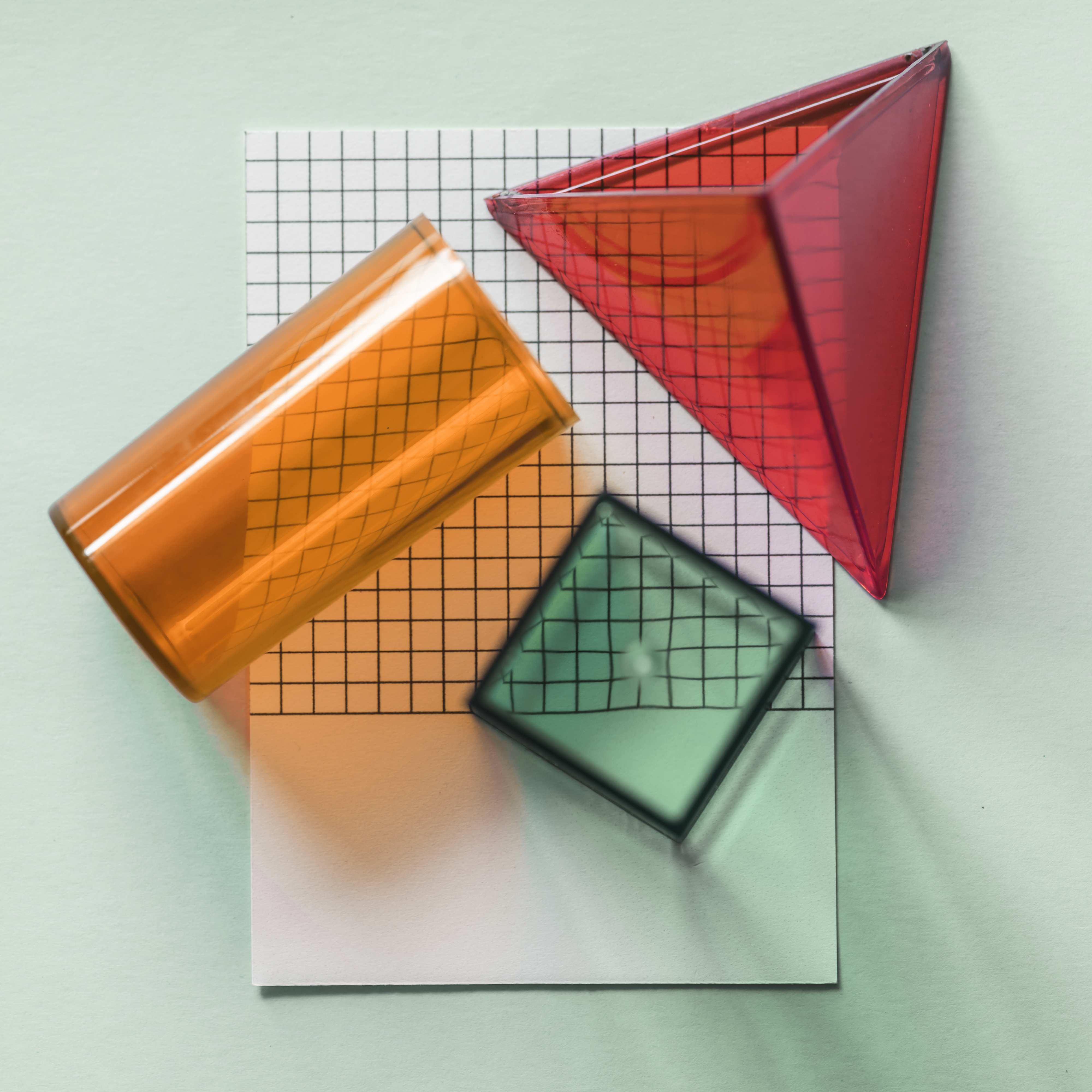 Geometrical cubes on a paper