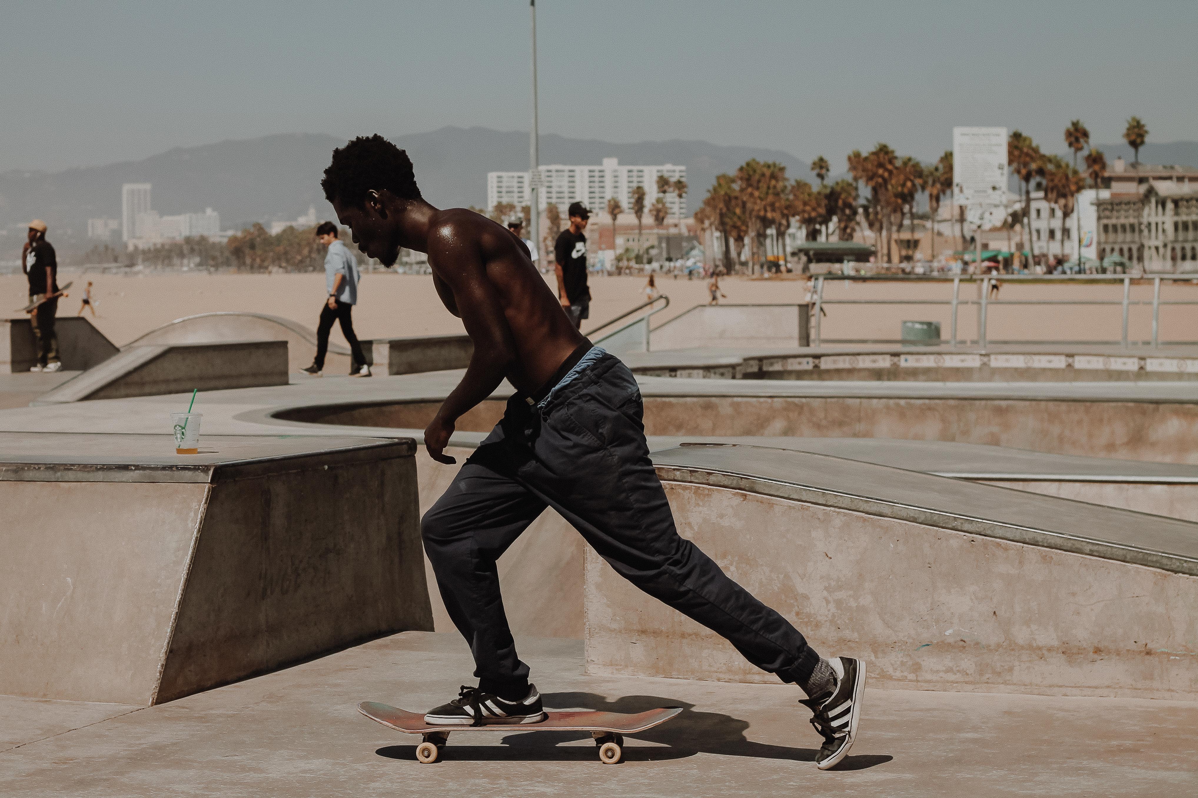 Beach skatepark